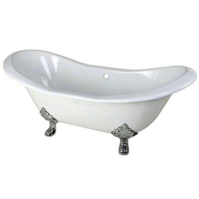 cast iron or acrylic clawfoot bathtub - faucetlist