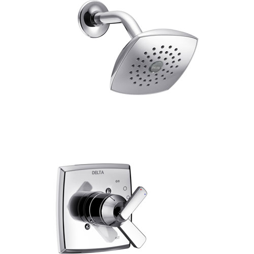 delta ashlyn chrome finish monitor 17 series shower only faucet with dual temperature and pressure control