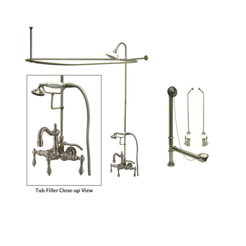 Add Shower To Clawfoot Tub. Examples of Clawfoot Tub Showers Faucet Buying Guide Part 2  Add a Shower FaucetList com