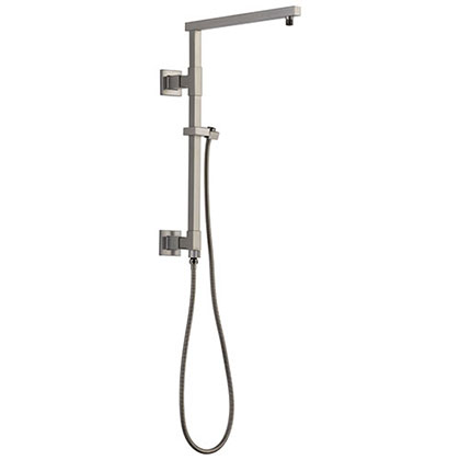 Delta Stainless Steel Finish Emerge Modern Angular Square Shower Column 18-inch (Requires Showerhead, Hand Spray, and Control) D58410SS