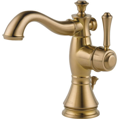 Delta Cassidy Single-Hole 1-Handle Champagne Bronze Bathroom Sink Faucet 579527