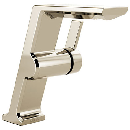 Delta Pivotal Polished Nickel Finish Single Handle Mid-Height Bathroom Sink Faucet D699PNDST