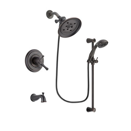 Delta Cassidy Venetian Bronze Tub and Shower System with Hand Shower DSP2709V