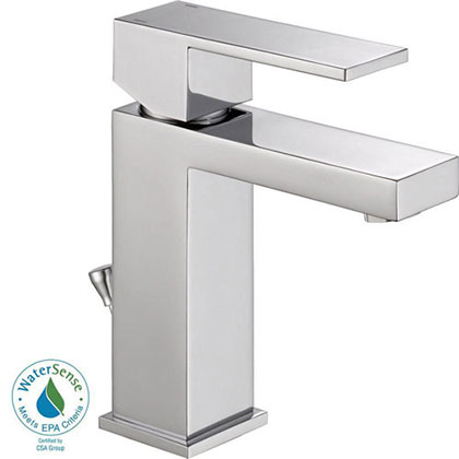Delta Ara Chrome Single Hole 1-Handle Bathroom Faucet