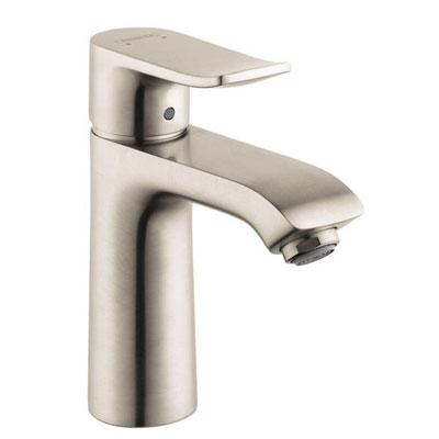HansGrohe Metris Single Hole 1-Handle Low-Arc Bathroom Faucet in Brushed Nickel 575531