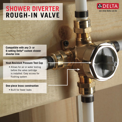 Features of Delta R11000 Diverter Rough-in Valve