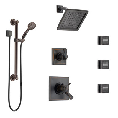 Delta Venetian Bronze Finish Full Custom Shower Systems