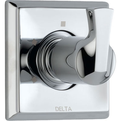 Delta 3-Setting Modern Chrome Single Handle Shower Diverter with Valve D179V