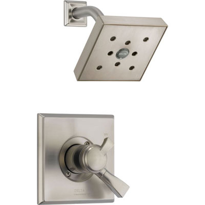 Delta Dryden Stainless Steel Finish Temp/Volume Control Shower with Valve D685V