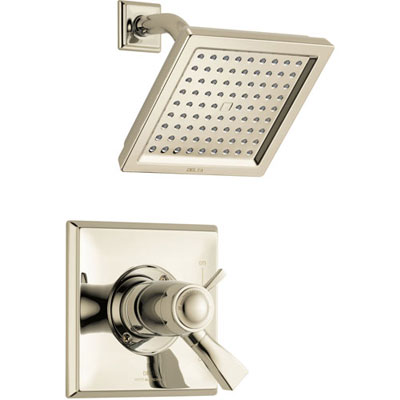 Delta Dryden Modern Polished Nickel Finish TempAssure 17T Shower Only Faucet with Dual Temperature and Pressure Control INCLUDES Rough-in Valve with Stops D1107V