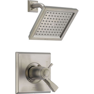 Delta Dryden Stainless Steel Finish Modern Thermostatic Shower with Valve D834V