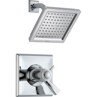 Delta Dryden Dual Control Chrome Modern Thermostatic Shower with Valve D802V