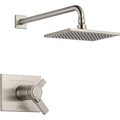 Complete Stainless Steel Finish Delta Shower Faucets
