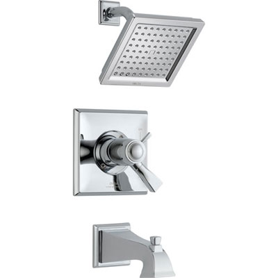 Delta Dryden Thermostatic Dual Control Chrome Tub and Shower with Valve D496V