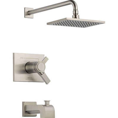 Delta Vero Thermostatic Dual Control Stainless Steel Tub & Shower w/ Valve D503V