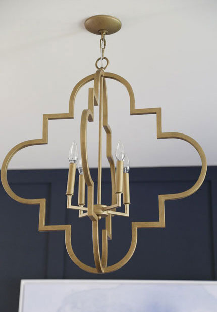 Brushed Gold Ceiling Light Fixture