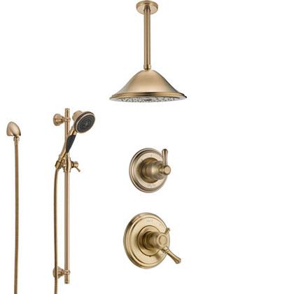 Delta Champagne Bronze Finish Full Custom Shower System Category