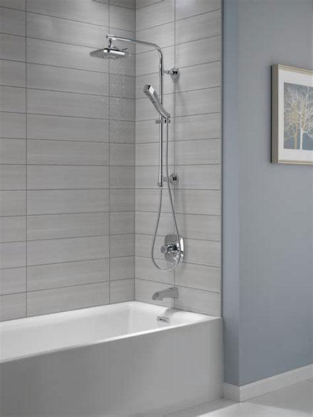 Chrome Delta Emerge Shower Column with Tub Spout