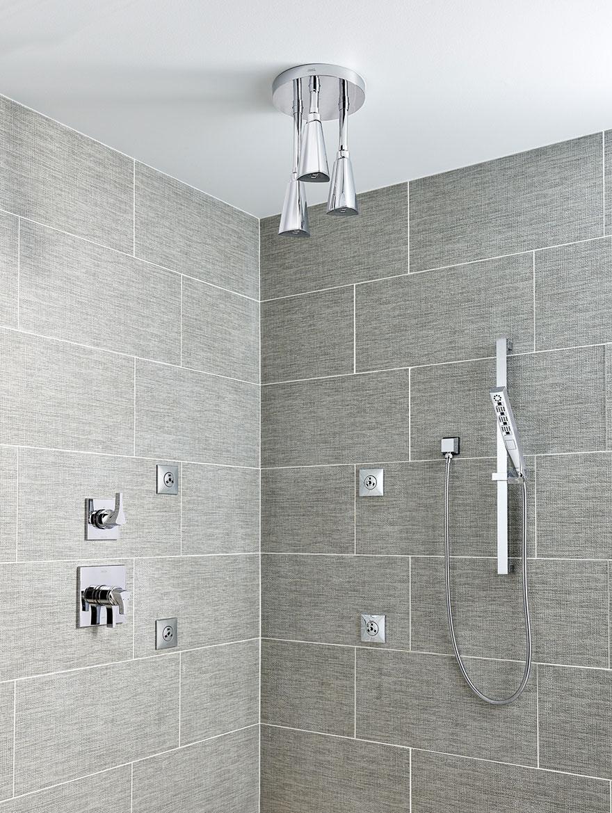 Delta Chrome Finish Full Custom Shower Systems
