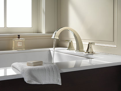 Complete Delta Roman Tub Filler Faucets with Valve and Trim Kit