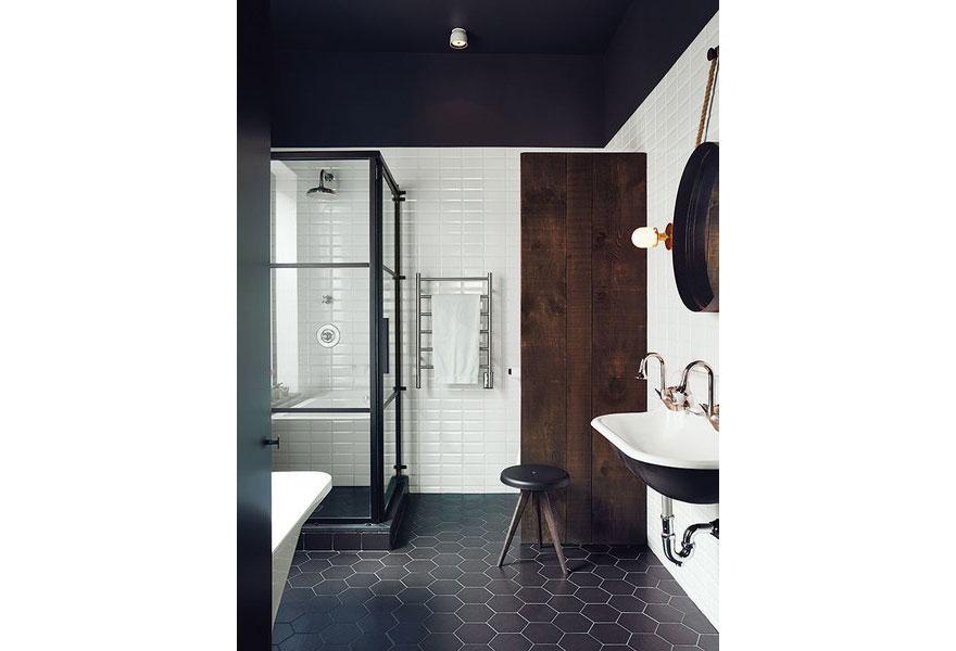 Small Minimalist Master Bathroom