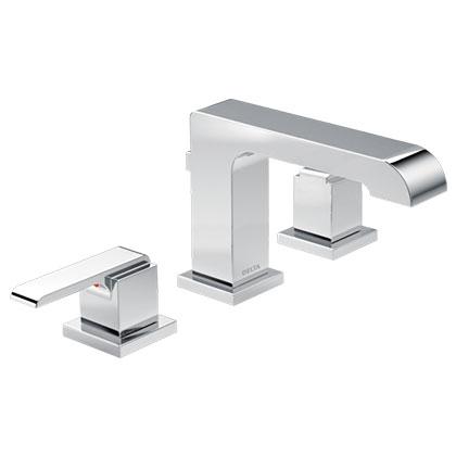 Delta Ara Collection Chrome Widespread Bathroom Faucet