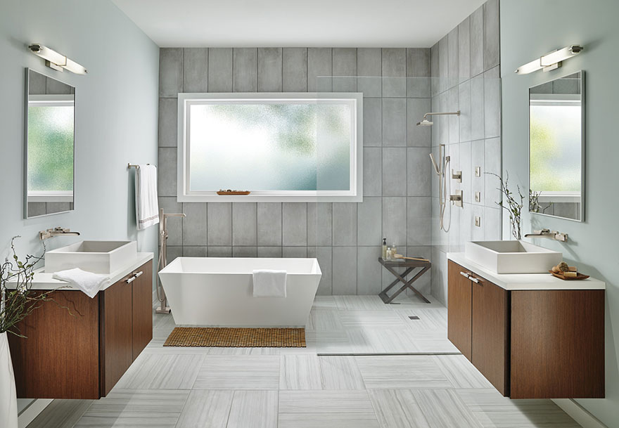 Full Master Bathroom Delta Ara Collection