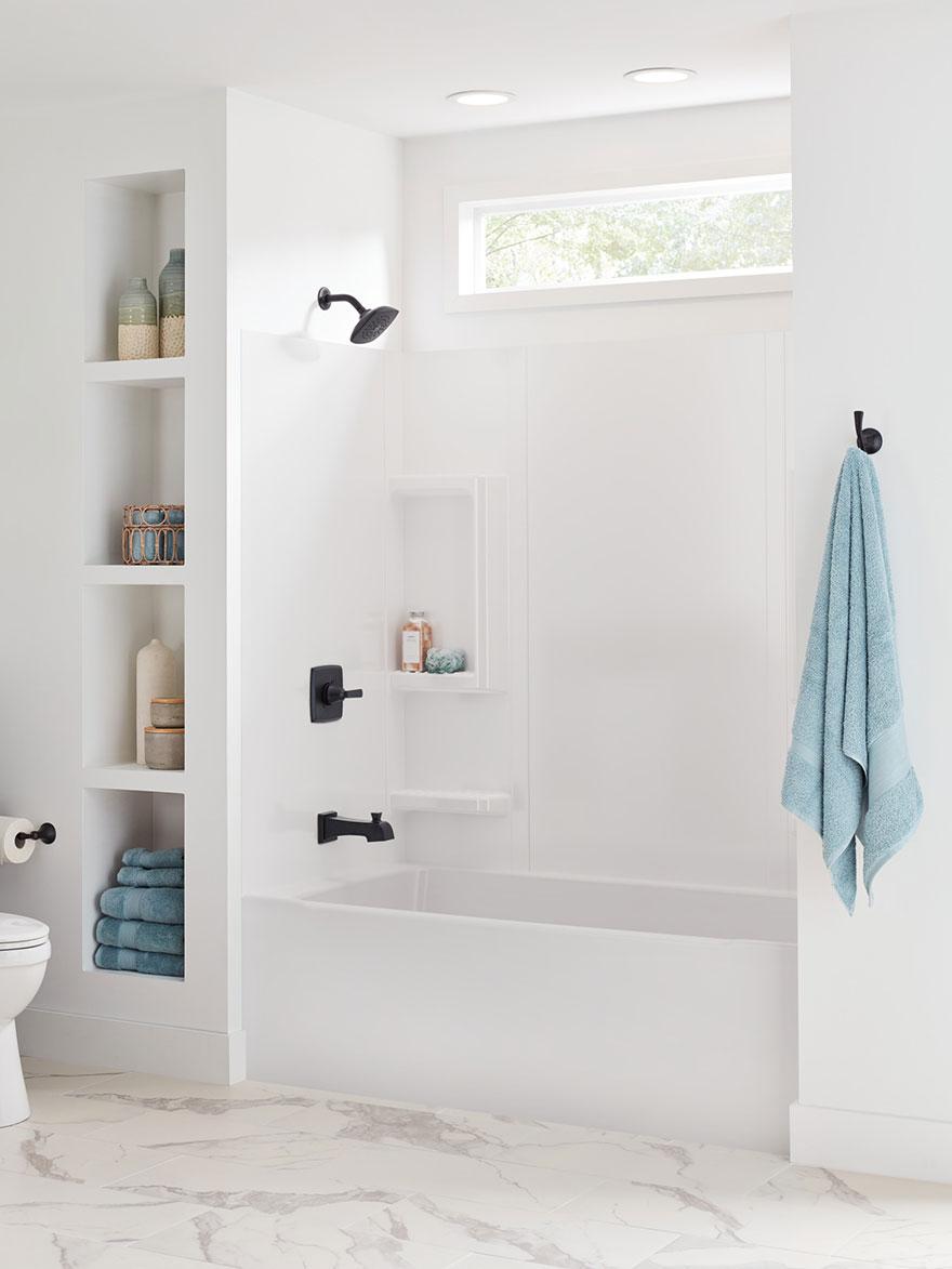 Delta Ashlyn Collection Matte Black Tub and Shower Faucet