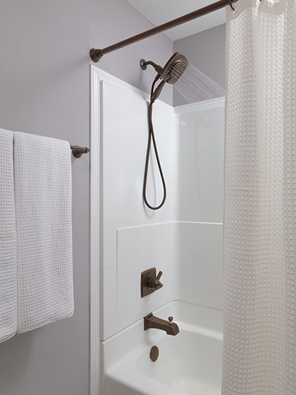 Delta Ashlyn Venetian Bronze Tub Shower Faucet with In2ition Hand Shower Showerhead Combo