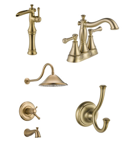 Delta Cassidy Collection Champagne Bronze Fixtures