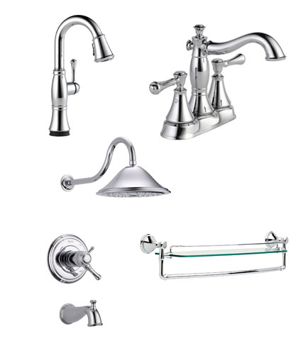 Delta Cassidy Collection Chrome Fixtures