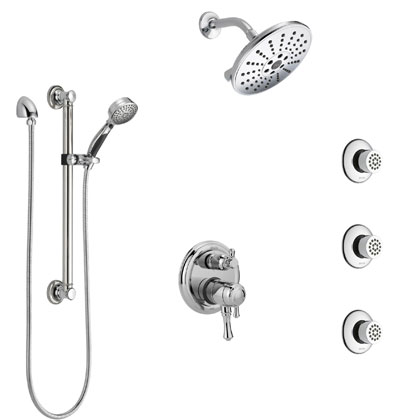 Delta Cassidy Collection Shower Systems with Integrated Diverter