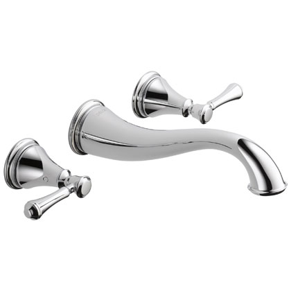 Delta Cassidy Collection Two Handle Wall Mount Bathroom Faucets