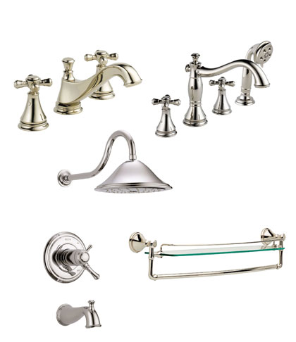 Delta Cassidy Collection Polished Nickel Fixtures
