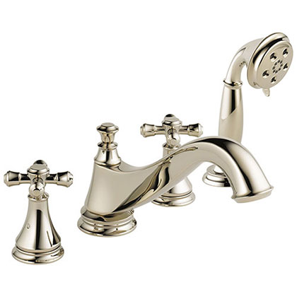 Delta Cassidy Collection Polished Nickel Classic Spout Roman Tub Filler Faucet Image 1