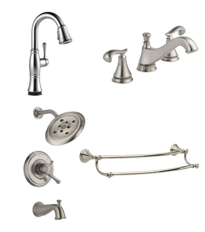 Delta Cassidy Collection Stainless Steel Fixtures