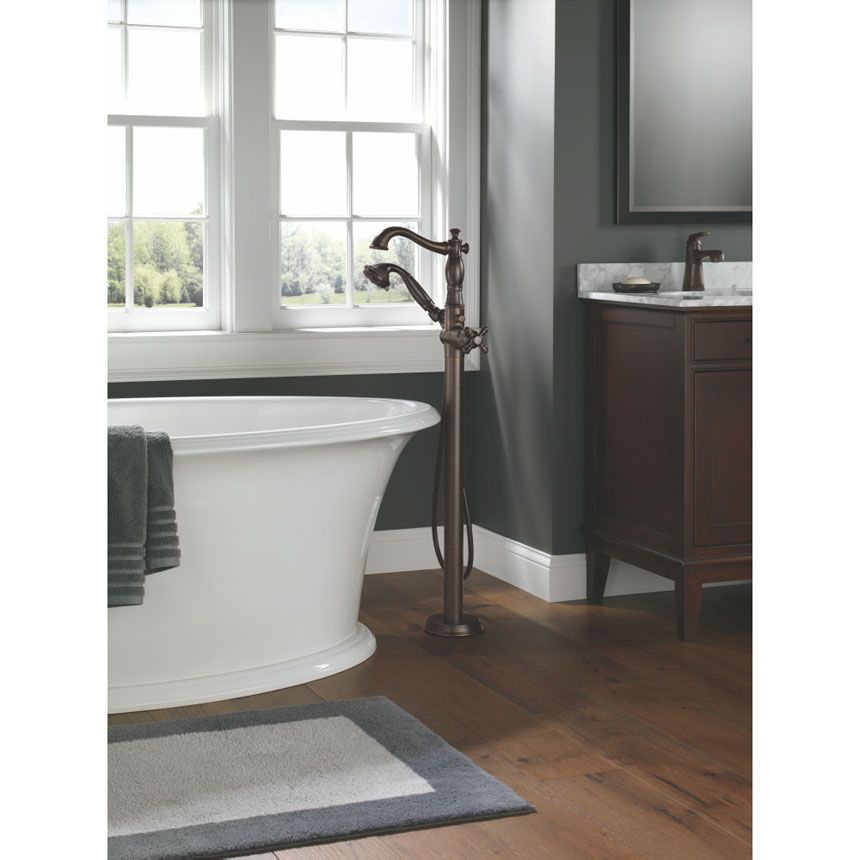 Delta Cassidy Collection Venetian Bronze Free Standing Tub Filler