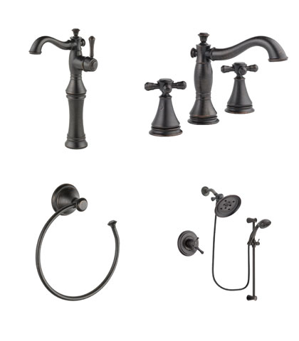 Delta Cassidy Collection Venetian Bronze Fixtures