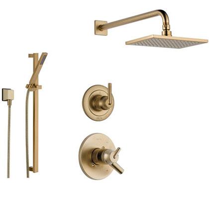 Delta Champagne Bronze Finish Full Custom Shower Systems
