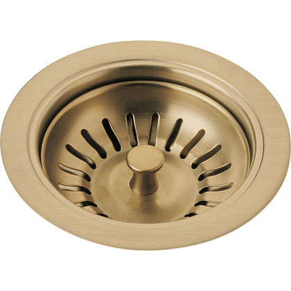 Delta Champagne Bronze Kitchen Sink Basket Strainer