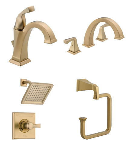 Delta Dryden Collection Champagne Bronze Fixtures