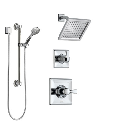 Delta Dryden Collection Chrome Shower System with Handshower