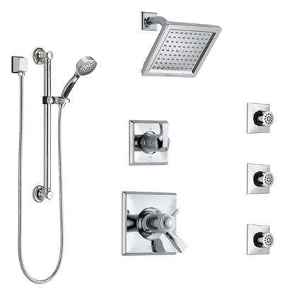 Delta Dryden Collection Chrome Shower System with Thermostatic Control