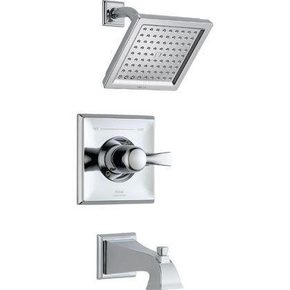Delta Dryden Collection Chrome Tub and Shower Combination Faucet