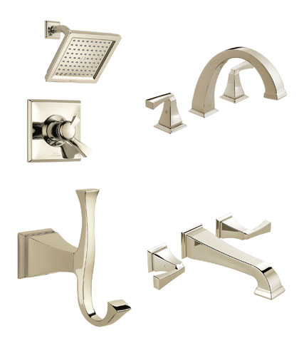 Delta Dryden Collection Polished Nickel Fixtures