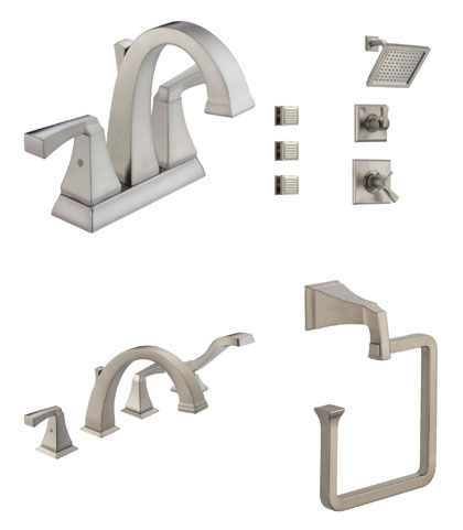 Delta Dryden Collection Stainless Steel Fixtures