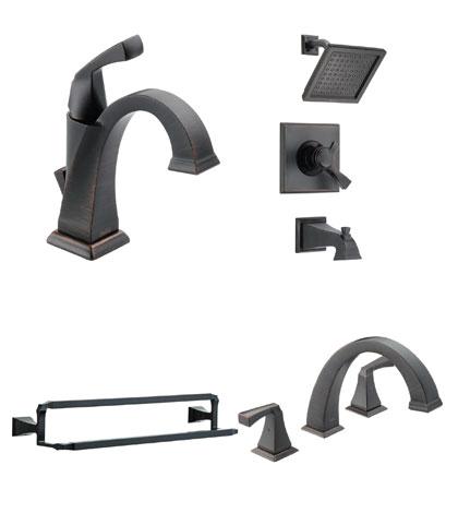 Delta Dryden Collection Venetian Bronze Fixtures