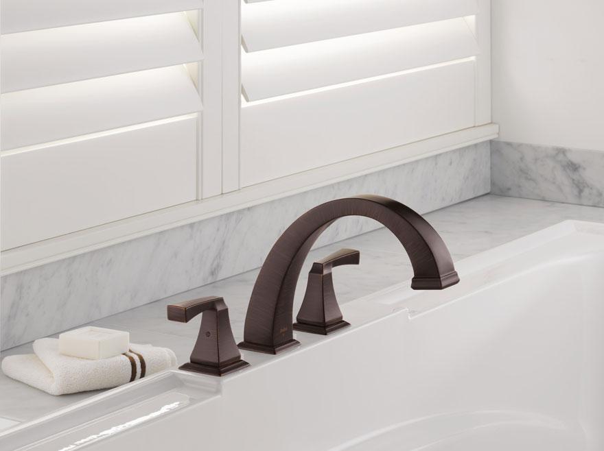 Delta Dryden Collection Venetian Bronze Roman Tub Faucet