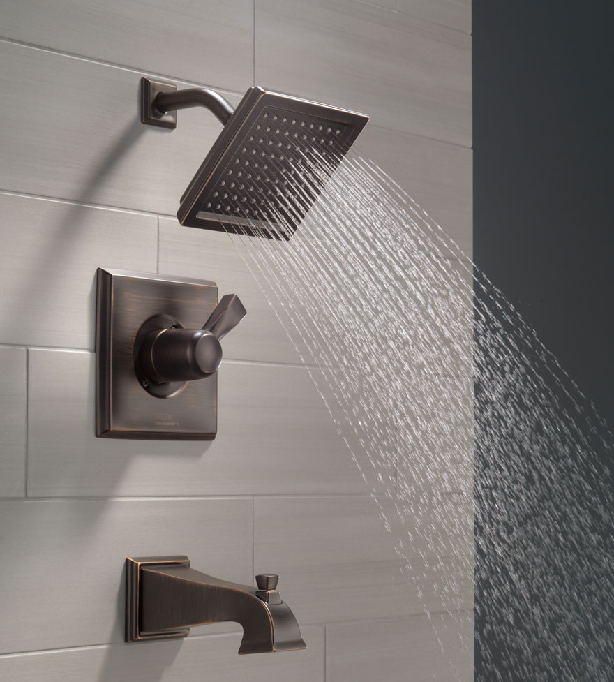 Delta Dryden Collection Venetian Bronze Tub and Shower Combination Faucet