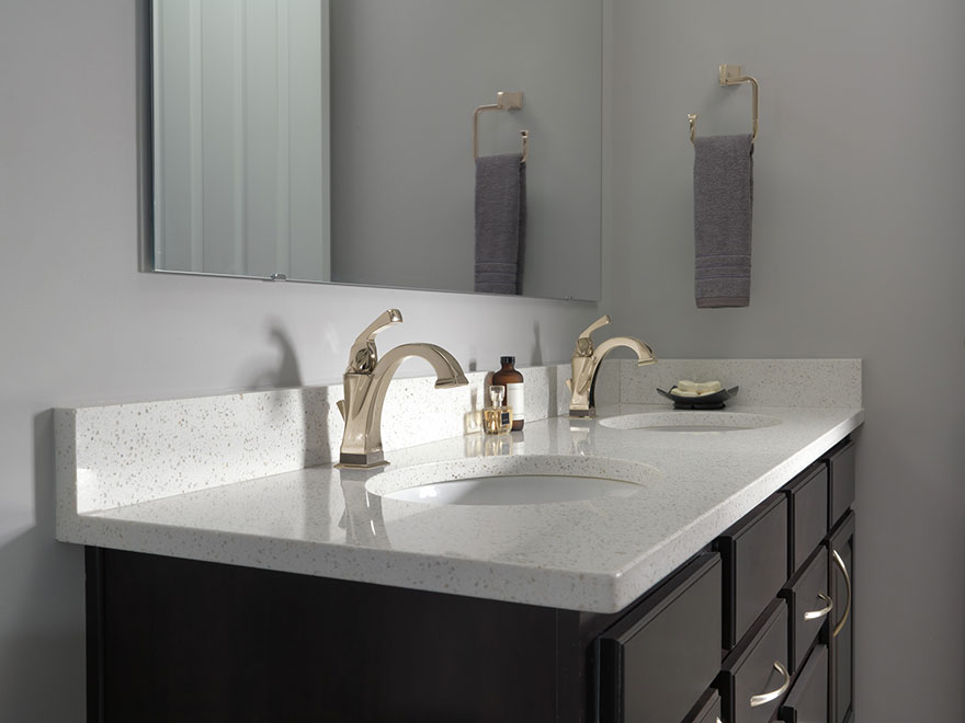 Delta Dryden Polished Nickel Single Hole Electronic Touch2O Bathroom Faucets